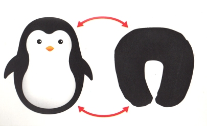 Zip & Flip Penguin Travel Pillow
