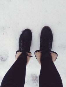 Snow and boots!