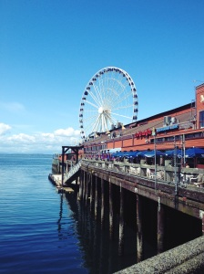 Seattle's waterfront is stunning on a sunny day.