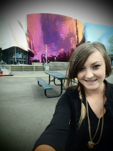 Outside the incredible EMP Museum