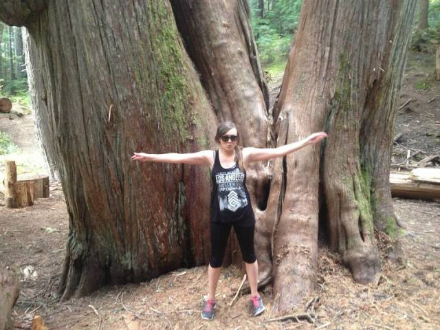 I don't really know what face I was pulling here... but the Cedar trees were HUGE!