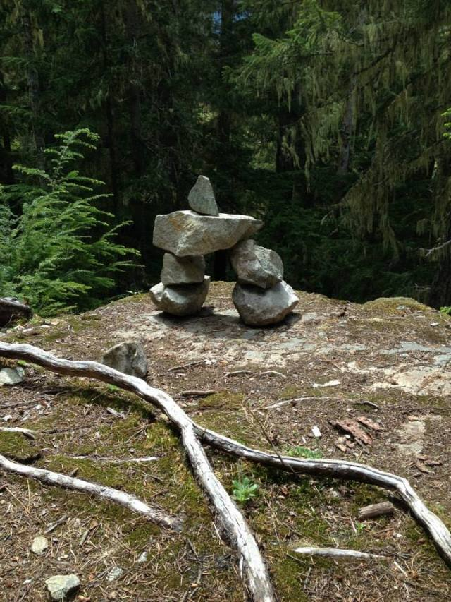 There were a bunch of these little Inukshuks scattered around the place. They were used as a way of communication between Inuits to let each other know that they were on the right path, or that they had been there.