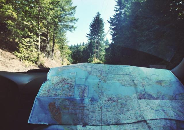 I wanted to take an artys roadtrip picture... Not going to lie though, this isn't even a map for Sunshine Coast!