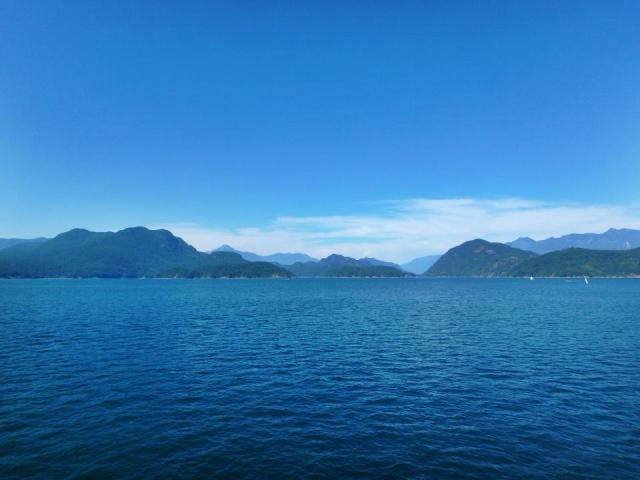 The stunning ferry ride between Horseshoe Bay and Langley