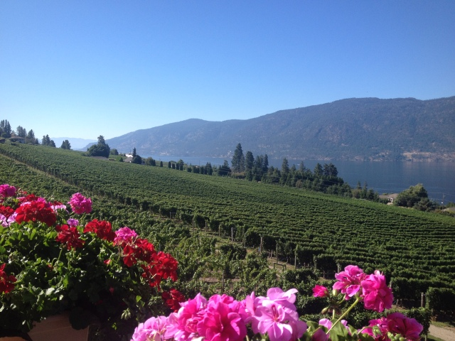 Grey Monk Winery with views over the Okanagon Lake