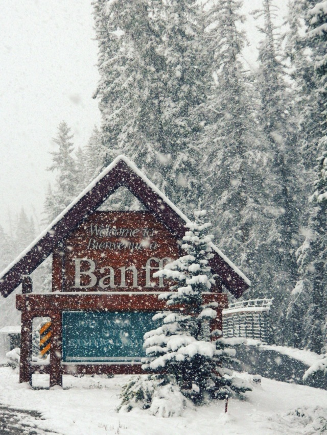 Welcome to Banff! Where you get snowstorms in September!