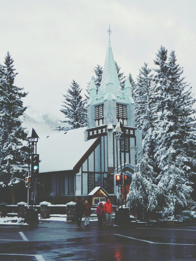 Church in Banff, Alberta, Canada #travel