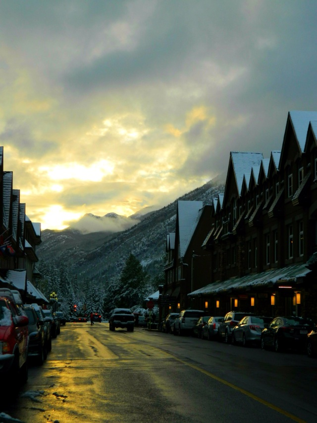 Sunset in Banff, Canada #travel