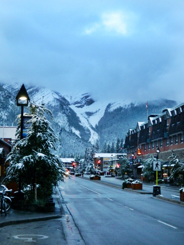 Street in Banff, Alberta, Canada #travel